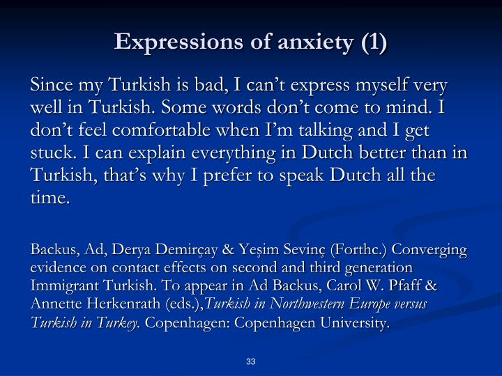 Expressions of anxiety (1)
