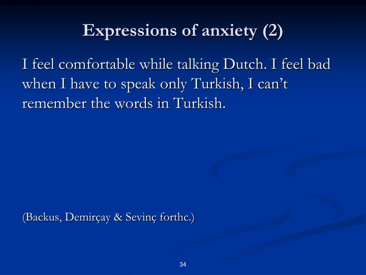 Expressions of anxiety (2)
