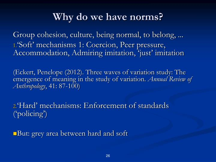 Why do we have norms?