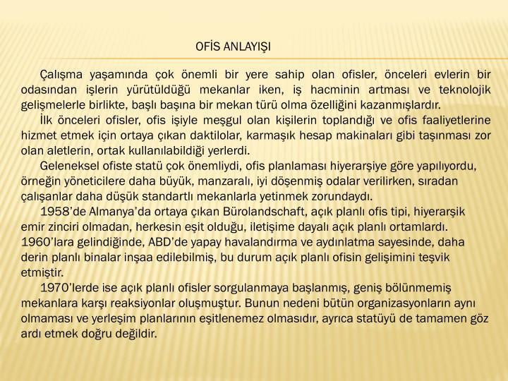 OFİS ANLAYIŞI