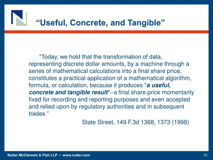 """""""Useful, Concrete, and Tangible"""""""