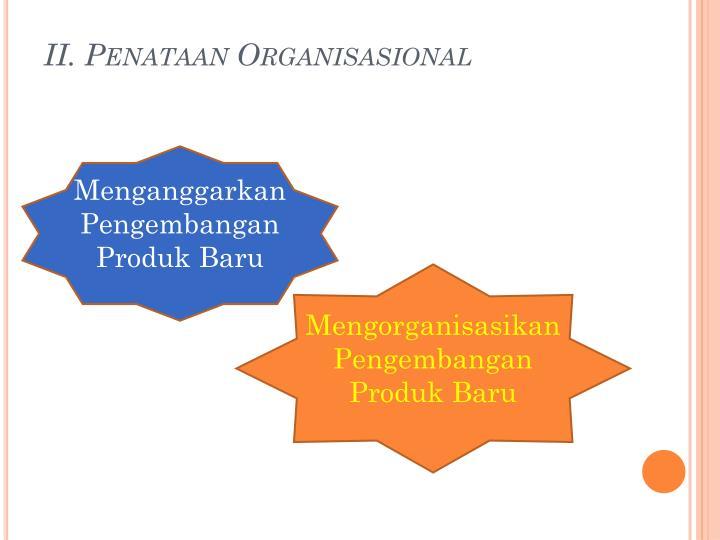 II. Penataan Organisasional