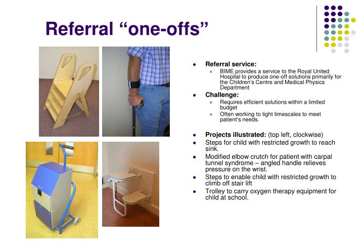 "Referral ""one-offs"""