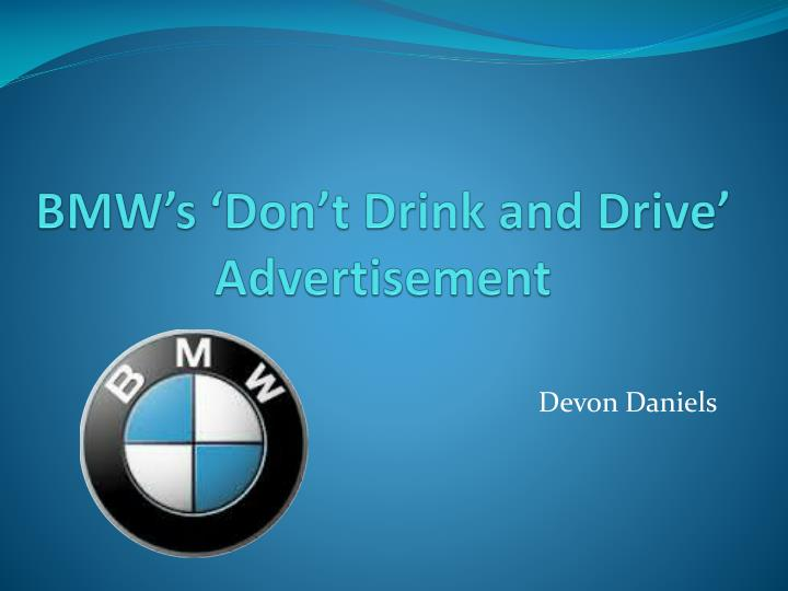 ppt - bmw's 'don't drink and drive' advertisement powerpoint, Bmw Presentation Template, Presentation templates