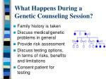 what happens during a genetic counseling session