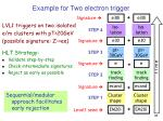 example for two electron trigger