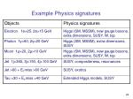 example physics signatures