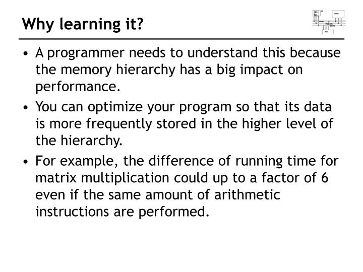 Why learning it?