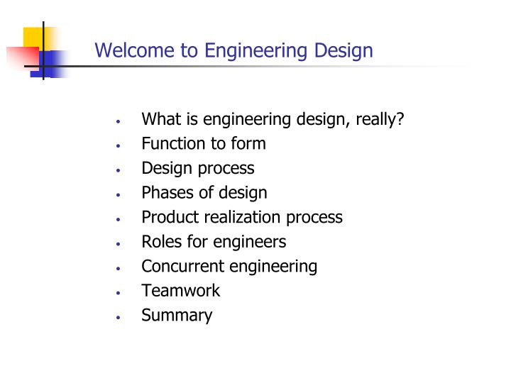 PPT - Welcome to Engineering Design PowerPoint Presentation - ID:3800320