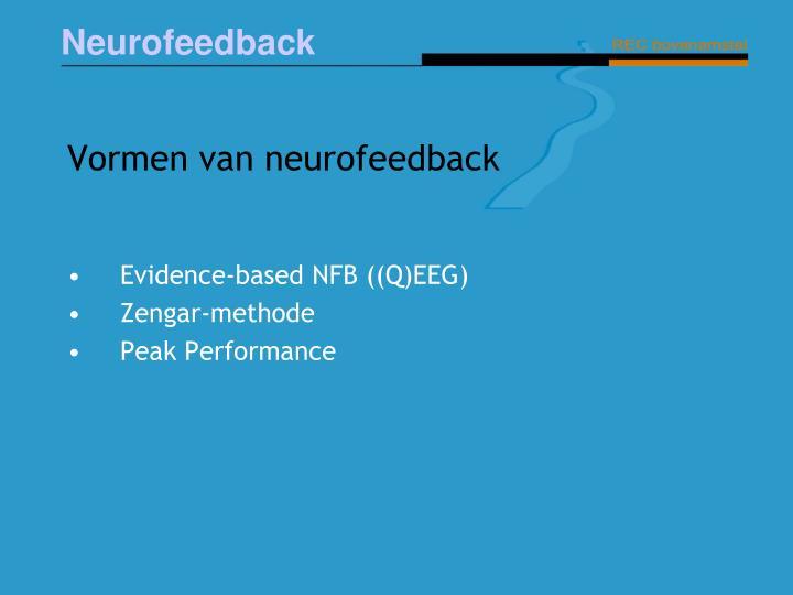Vormen van neurofeedback