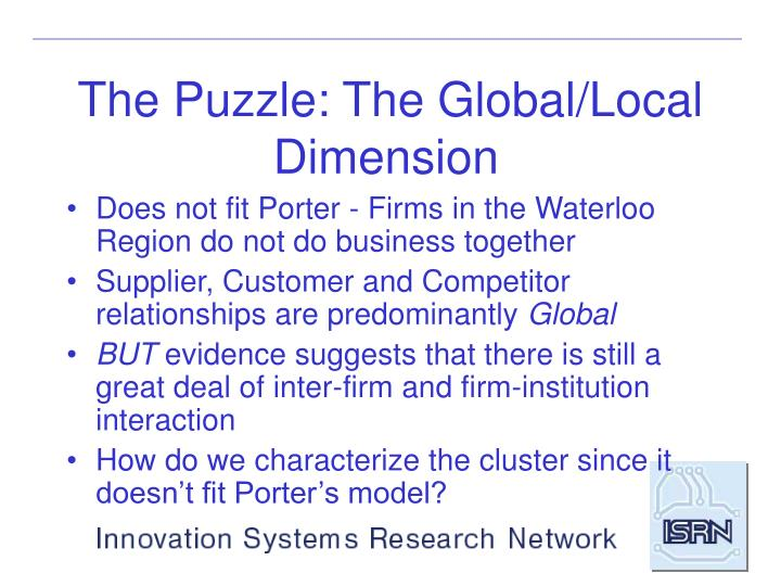 The Puzzle: The Global/Local Dimension