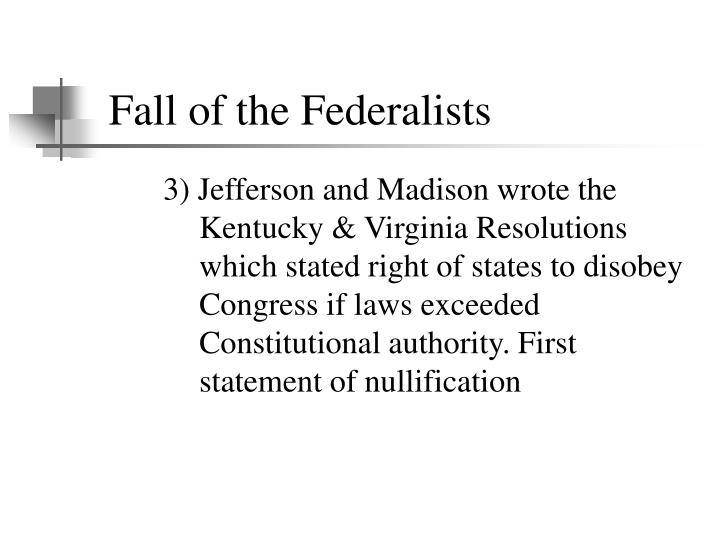 Fall of the Federalists