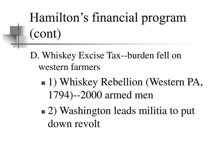 Hamilton's financial program (cont)