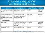 action plan steps to meet your goals and objectives1