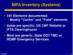 bifa inventory systems