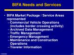 bifa needs and services