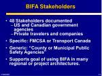 bifa stakeholders