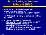 future linkages between bifa and tbwg