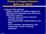 future linkages between bifa and tbwg1