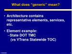 what does generic mean