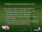 federal government cont
