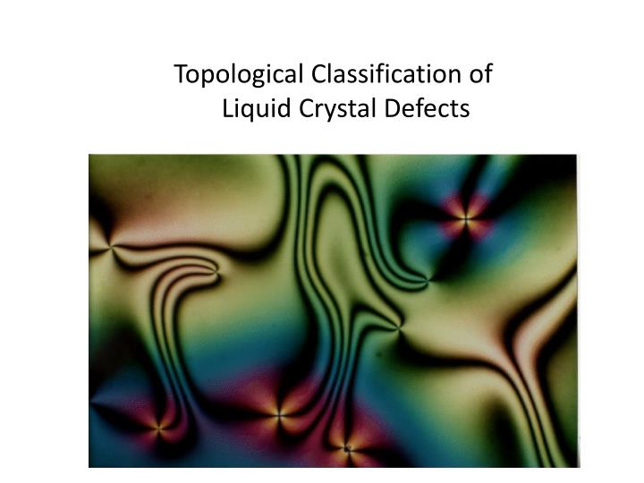 Topological Classification of