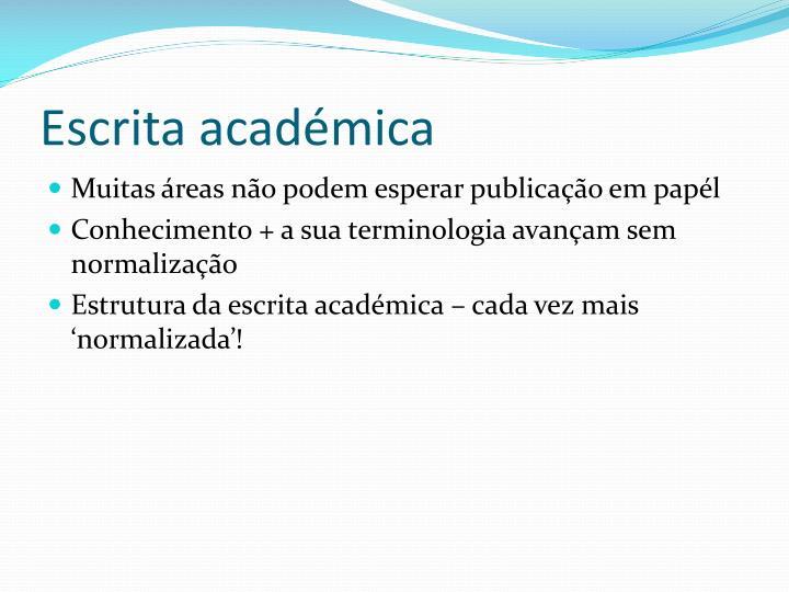Escrita académica