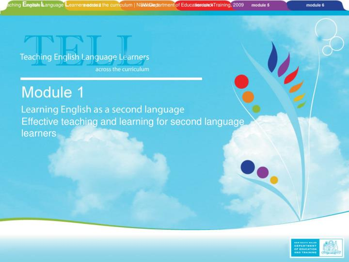 Effective teaching and learning for second language learners