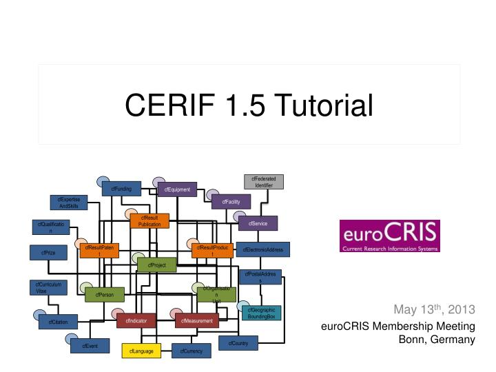 cerif 1 5 tutorial