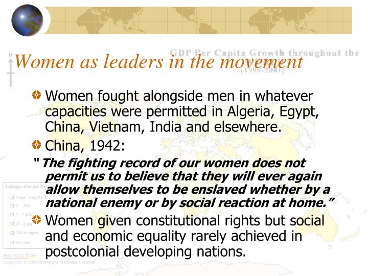 Women as leaders in the movement