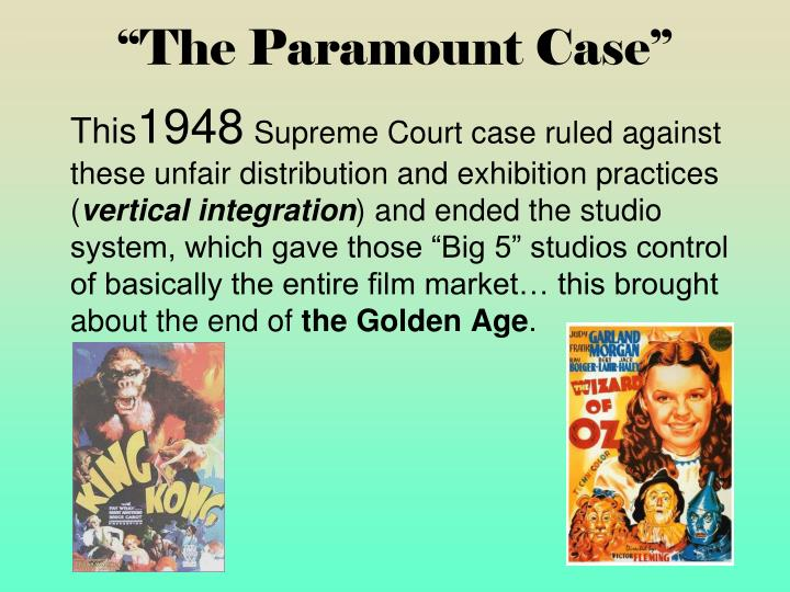"""The Paramount Case"""
