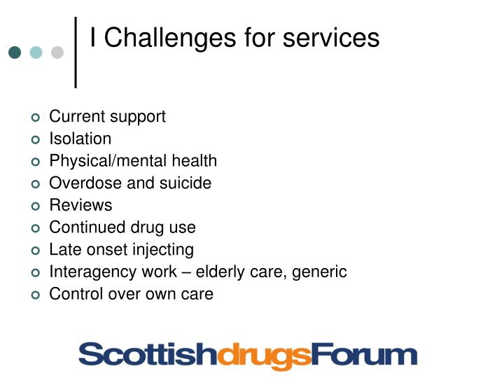 I Challenges for services