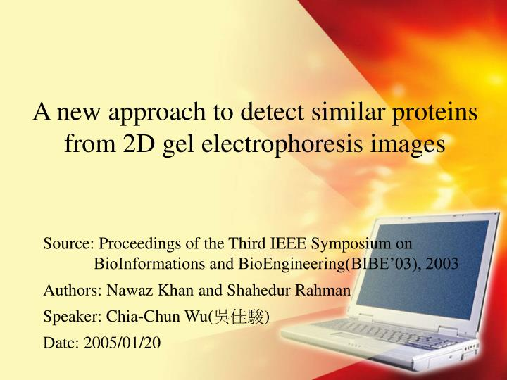 A new approach to detect similar proteins from 2d gel electrophoresis images