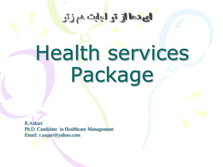 health services package n.