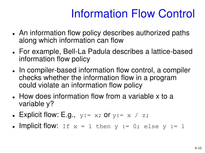Information Flow Control