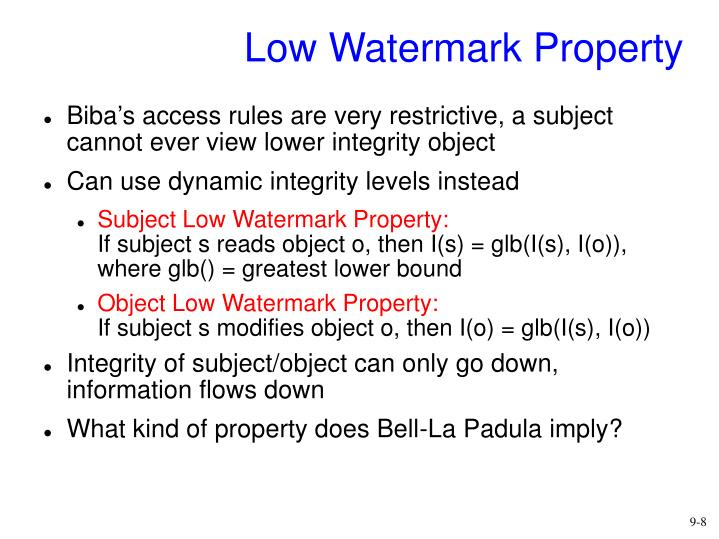 Low Watermark Property