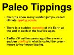 paleo tippings