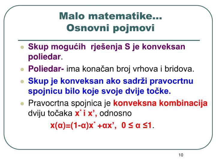 Malo matematike…