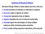 summary of structural patterns