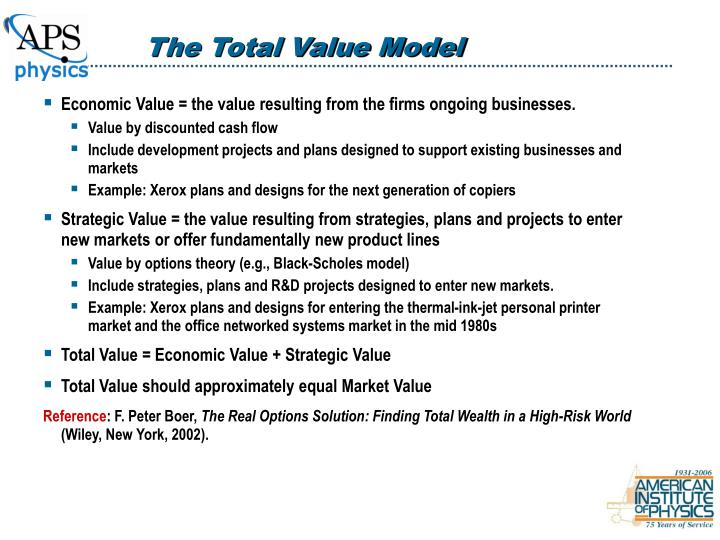 The Total Value Model