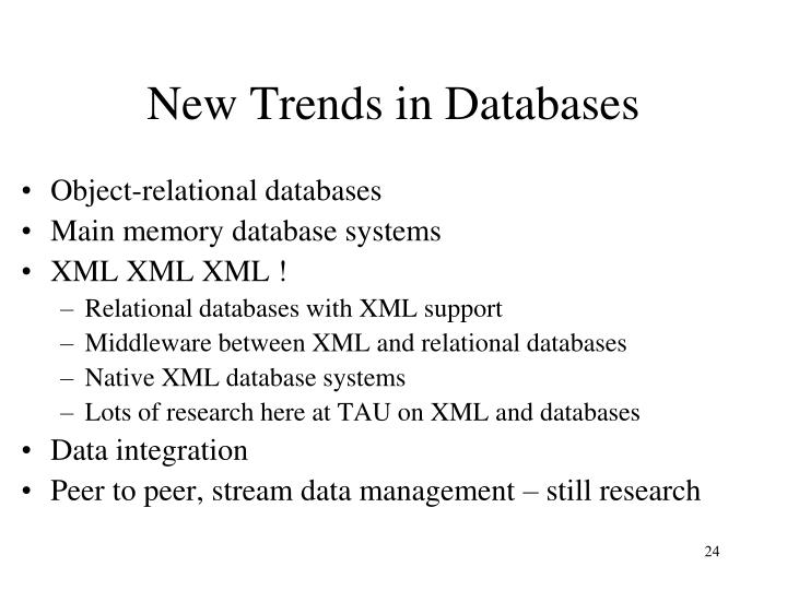 New Trends in Databases