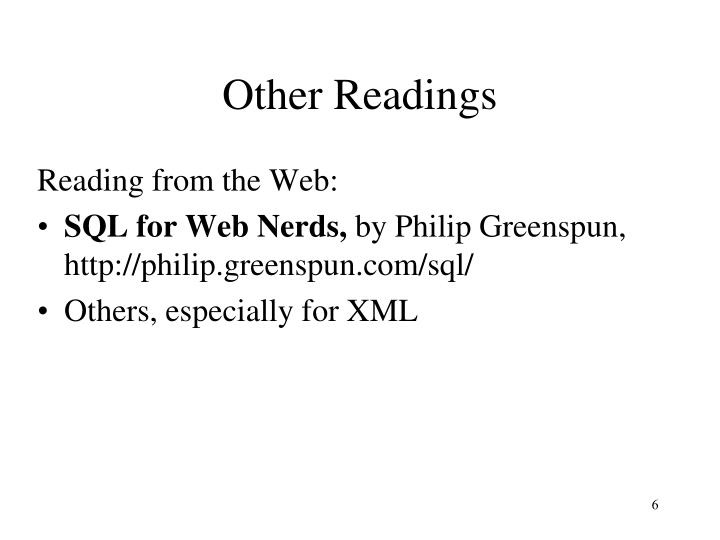 Other Readings