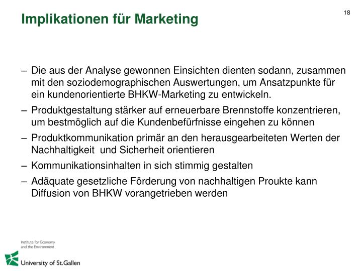 Implikationen für Marketing