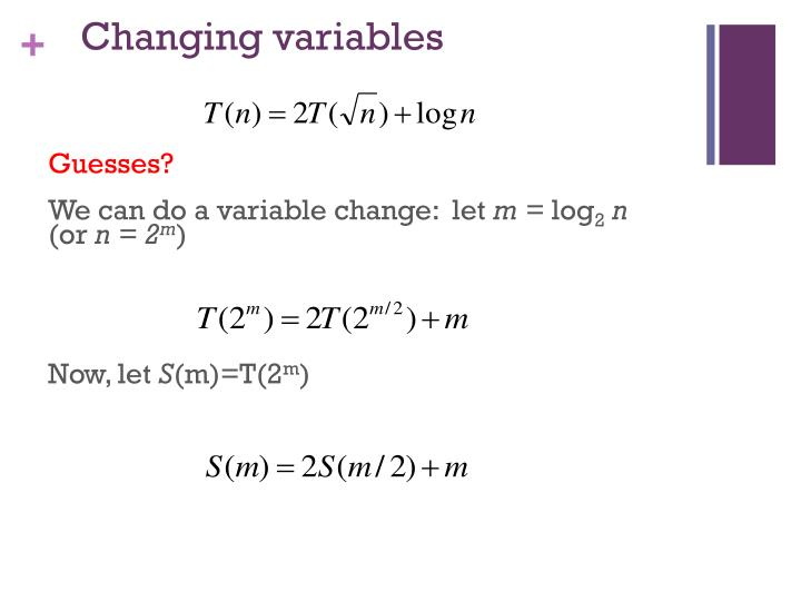 Changing variables