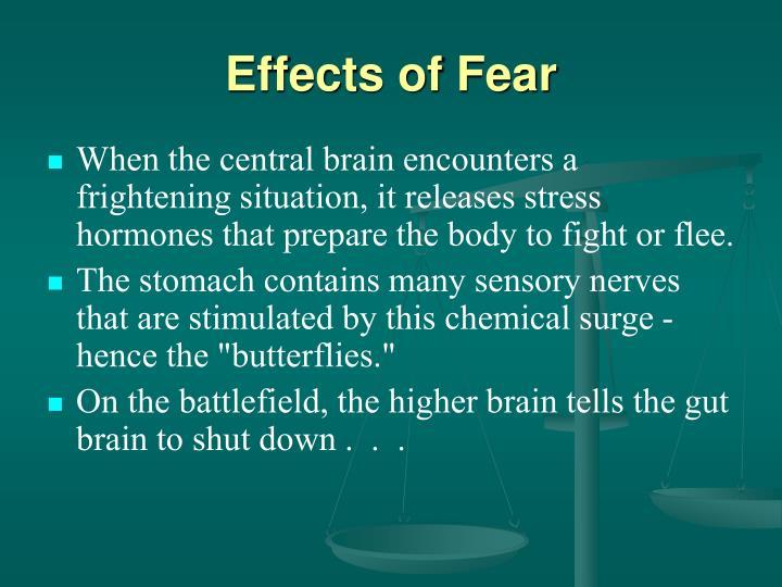 Effects of Fear