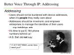 better voice through ip addressing