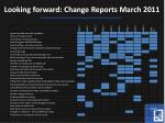looking forward change reports march 2011