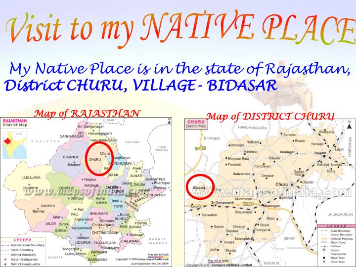 PPT - Visit to my NATIVE PLACE PowerPoint Presentation - ID:3802707