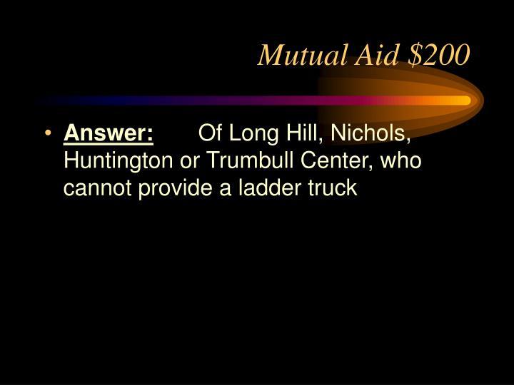 Mutual Aid $200