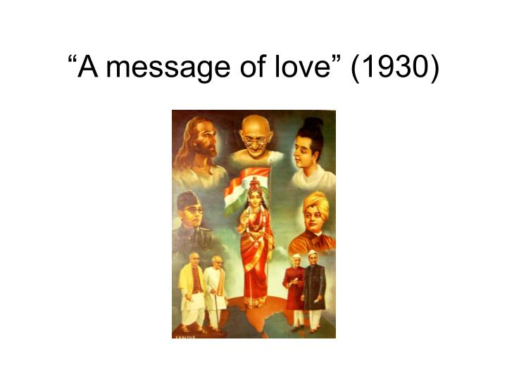"""""""A message of love"""" (1930)"""